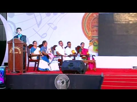 ANNUAL DAY - Welcome Speech - Joyal A Johny (OFFICIAL)