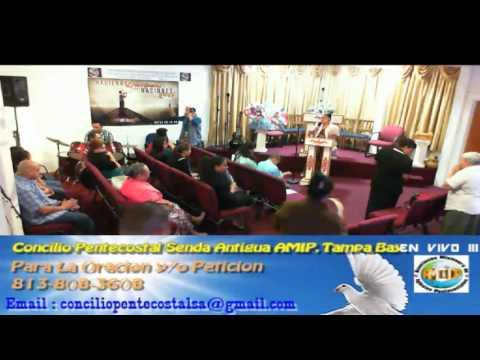 Culto Evangelistico Concilio Pentecostal Senda Antigua AMIP Tampa Bay.  04-24-2016