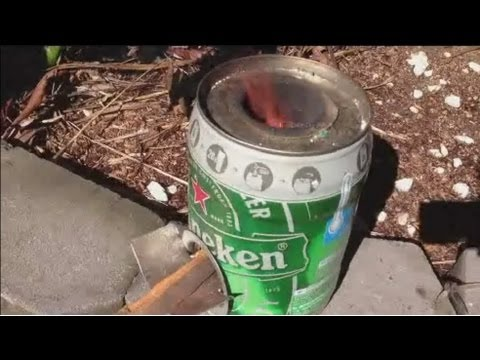 Mini Rocket Stove. 5ltr Heineken Keg. step by step instructions