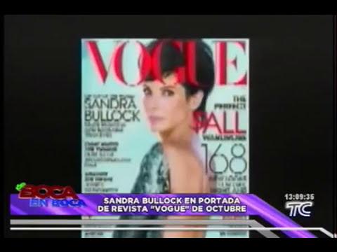 La actriz Sandra Bullok en la portada de revista