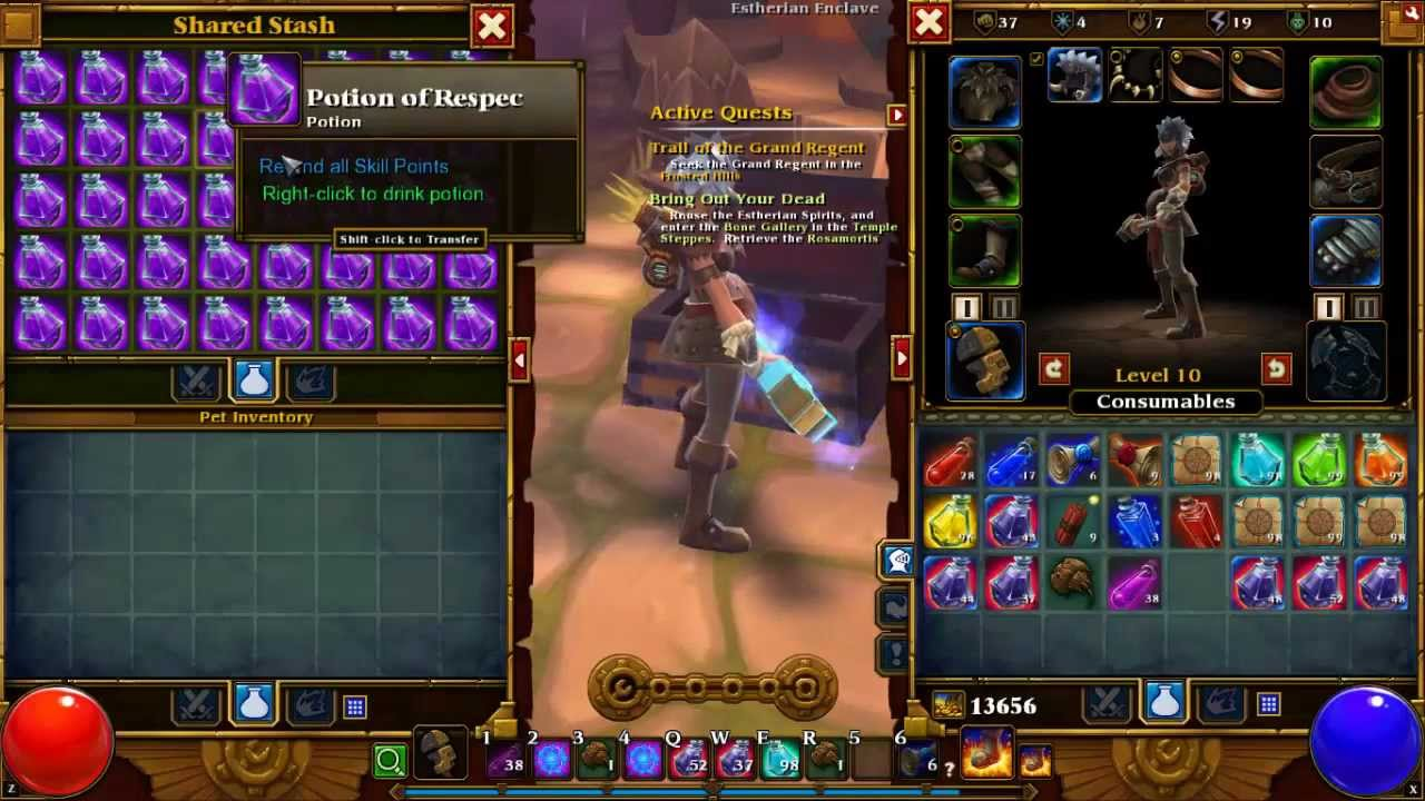 Torchlight 2 mods : Unlimited Skill Respec Potions (Workes ...