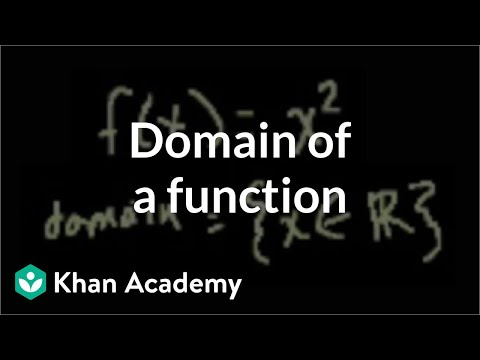 Domain of a function   Functions and their graphs   Algebra II   Khan Academy