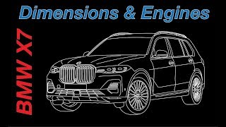 BMW X7  2019 dimensions and engines