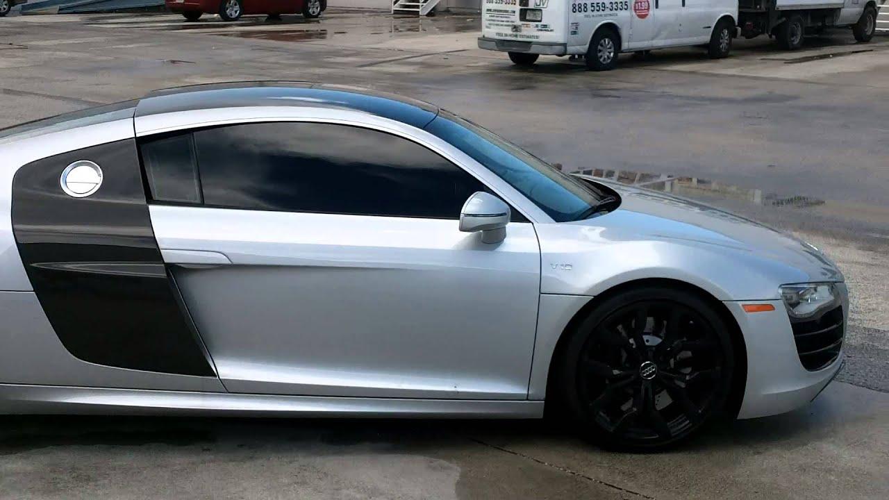 Audi R8 Panoramic Roof Wrap Fort Lauderdale Florida Youtube