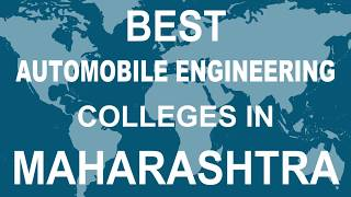 Best Automobile Engineering Colleges in Maharashtra