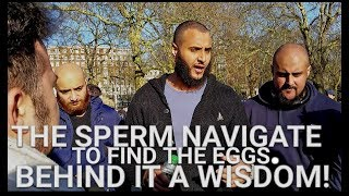 Video: Sperm is 'divinely' guided to an Egg. As a grown man, who guides you? - Mohammed Hijab vs Alex