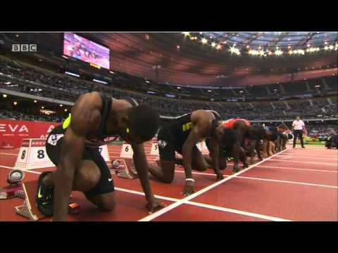 100m Tyson Gay 9.99 -Diamond League Paris 2012 - HD