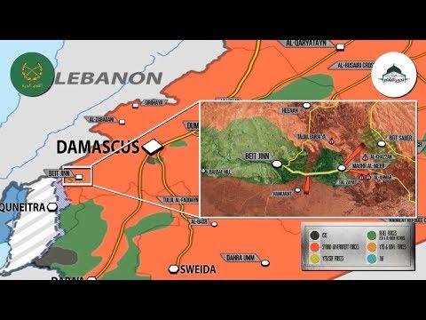 26 декабря 2017. Военная обстановка в Сирии. Сообщения о капитуляции Нусры возле границы с Израилем.