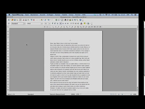 3 Seminararbeit formatieren mit OpenOffice 4 - Teil 3: Seitennummern