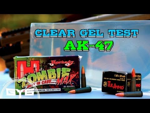 AK-47- Hornady Zombie Max VS. TulAmmo- CLEAR GEL TEST #6