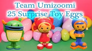 TEAM UMIZOOMI Nickelodeon Team Umizoomi 25 Surprise Eggs The Umizoomi Surprise Egg Video