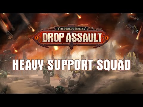 Heavy Support Squad Showcase | The Horus Heresy: Drop Assault - Warhammer 40,000