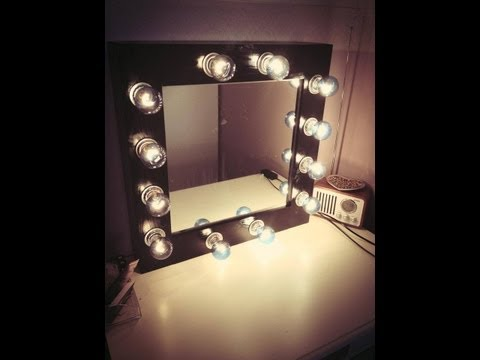diy how to make a vanity mirror and lights how to save money and do it yourself. Black Bedroom Furniture Sets. Home Design Ideas