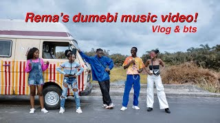 I WAS IN A MUSIC VIDEO LOL | Rema's dumebi music video vlog & bts | Amy Okoli