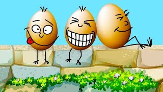 Learn Colors With Surprise Eggs - 47 Mins Collection - Animated Cartoons and Learning Kids Songs