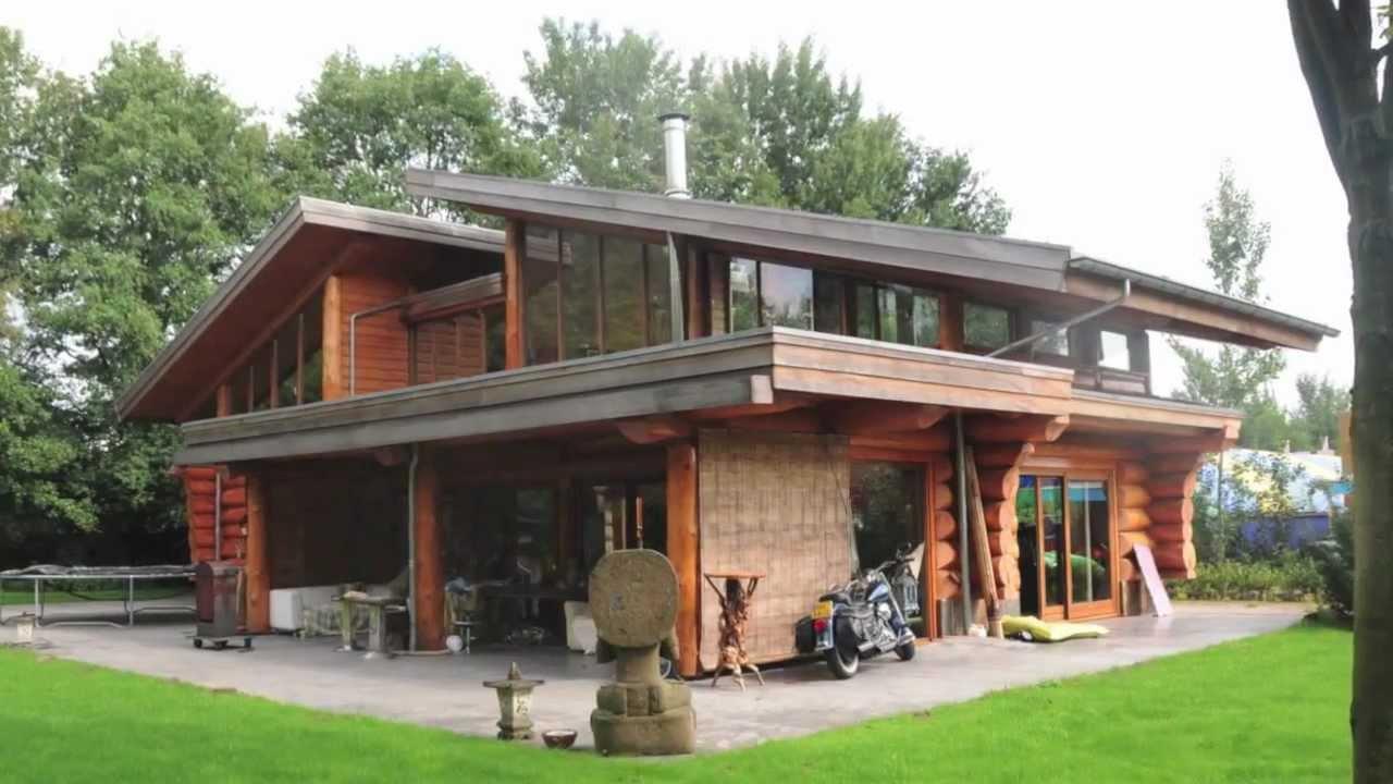 Blockhome tv naturstammhaus braamt nl youtube for Aufbau fachwerkhaus
