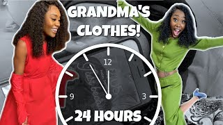 WEARING GRANDMA'S CLOTHES FOR 24 HOURS CHALLENGE lol | TRY NOT TO LAUGH | FUNNY VIDEOS | REACT 2019