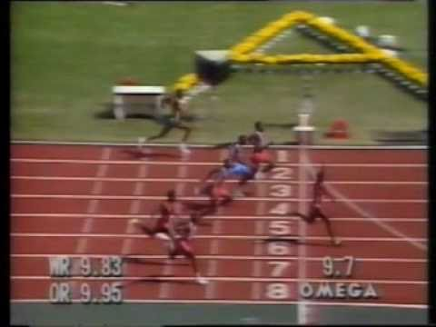 The infamous Ben Johnson 100m of the 1988 Seoul Olympics.