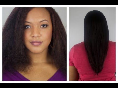 How I Straighten My Hair (Blow Dry & Flat Iron) Relaxed Hair