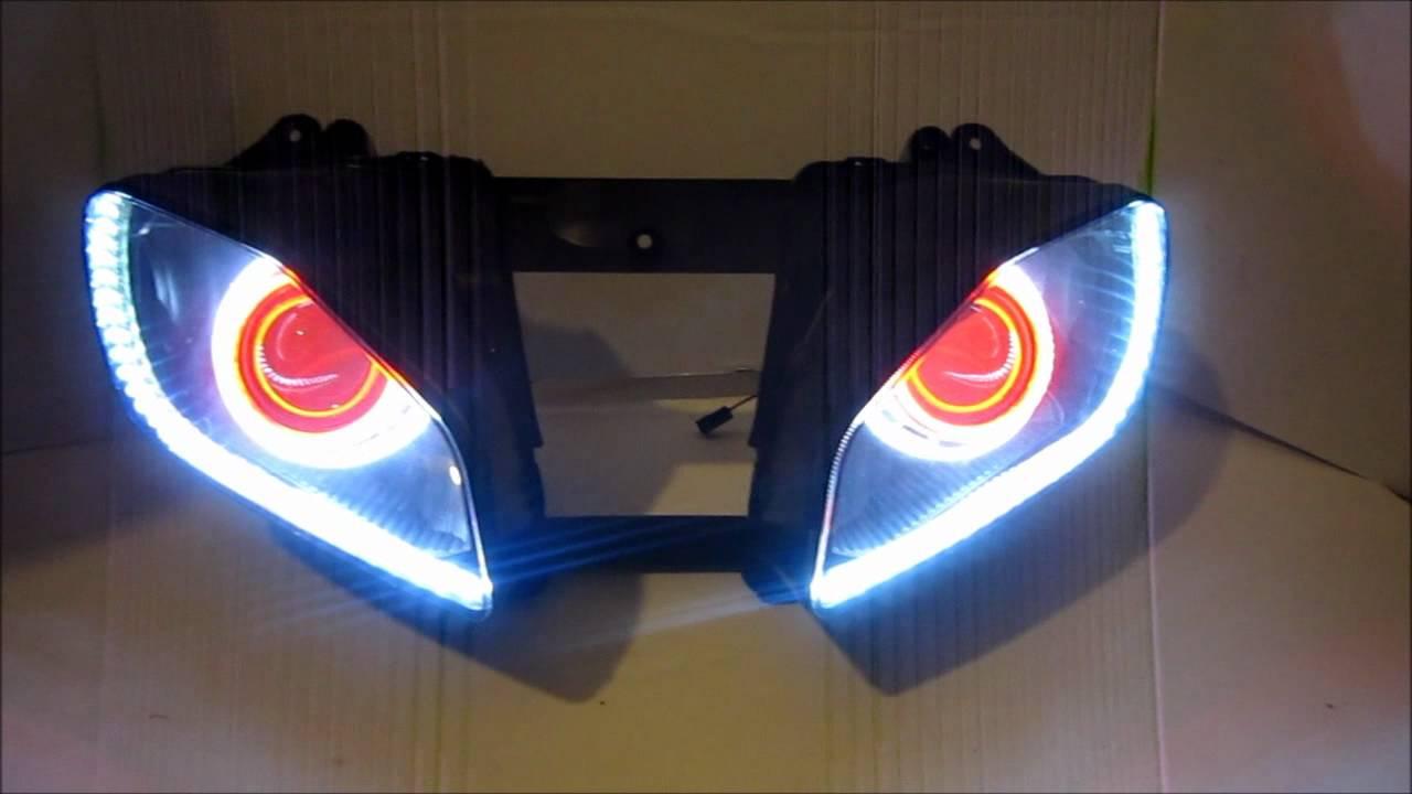 Yamaha R6 Projector Headlights 7 Bixenon Hid Angel Eyes