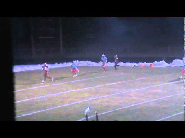 10-28-11 - Randy Baker catches a 19 yard TD pass from Mitch Tormohlen (Brush 13, Weld Central 0)