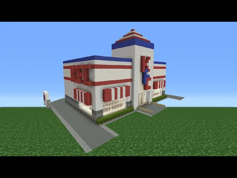 Minecraft Tutorial: How To Make A KFC Restaurant (Reupload Fixed Ending)