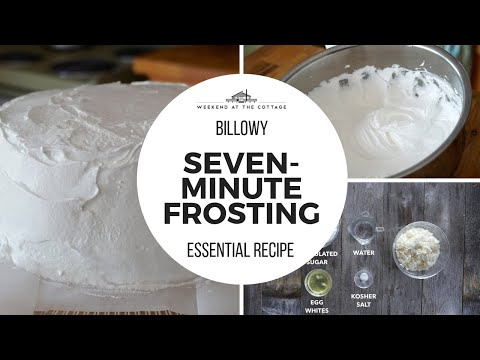 SEVEN-MINUTE FROSTING!!! Watch this 1-Minute Video!