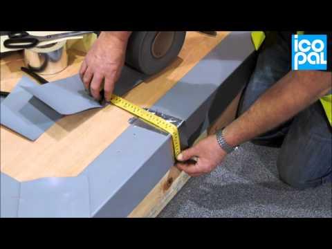 Flat Roof Installation Drip Edge Pvc Clad Metal Installation