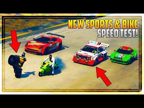 GTA 5 NEW BIKE & SPORTS CARS SPEED TEST! - Best Bike in the Game!? Should You Buy Them?