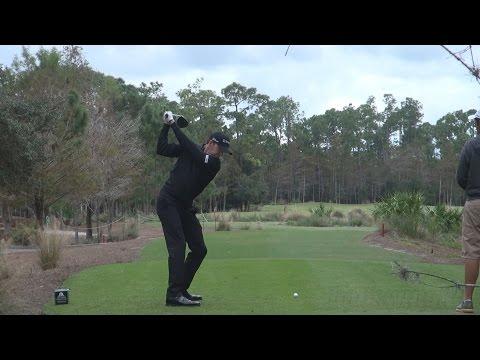 JIMMY WALKER - DRIVER SWING REGULAR & SLOW MOTION TIBURON GOLF COURSE 2014 TEMPLETON 1080p HD