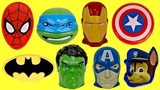 Superheroes Easter Treat Container Eggs & Toy Surprise