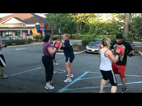 Boxing/ Bootcamp Outdoors Punch Mitts drills Image 1