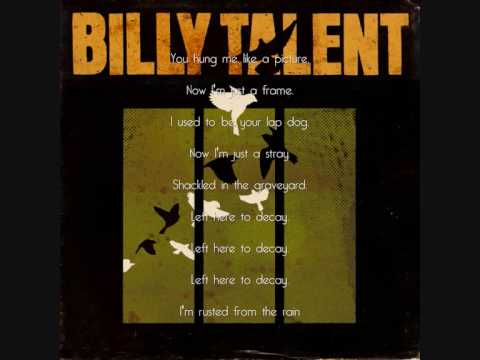 Billy Talent - Rusted From The Rain With Lyrics video
