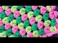 Badem Şekeri Lif Battaniye / Puff Stitch Blanket