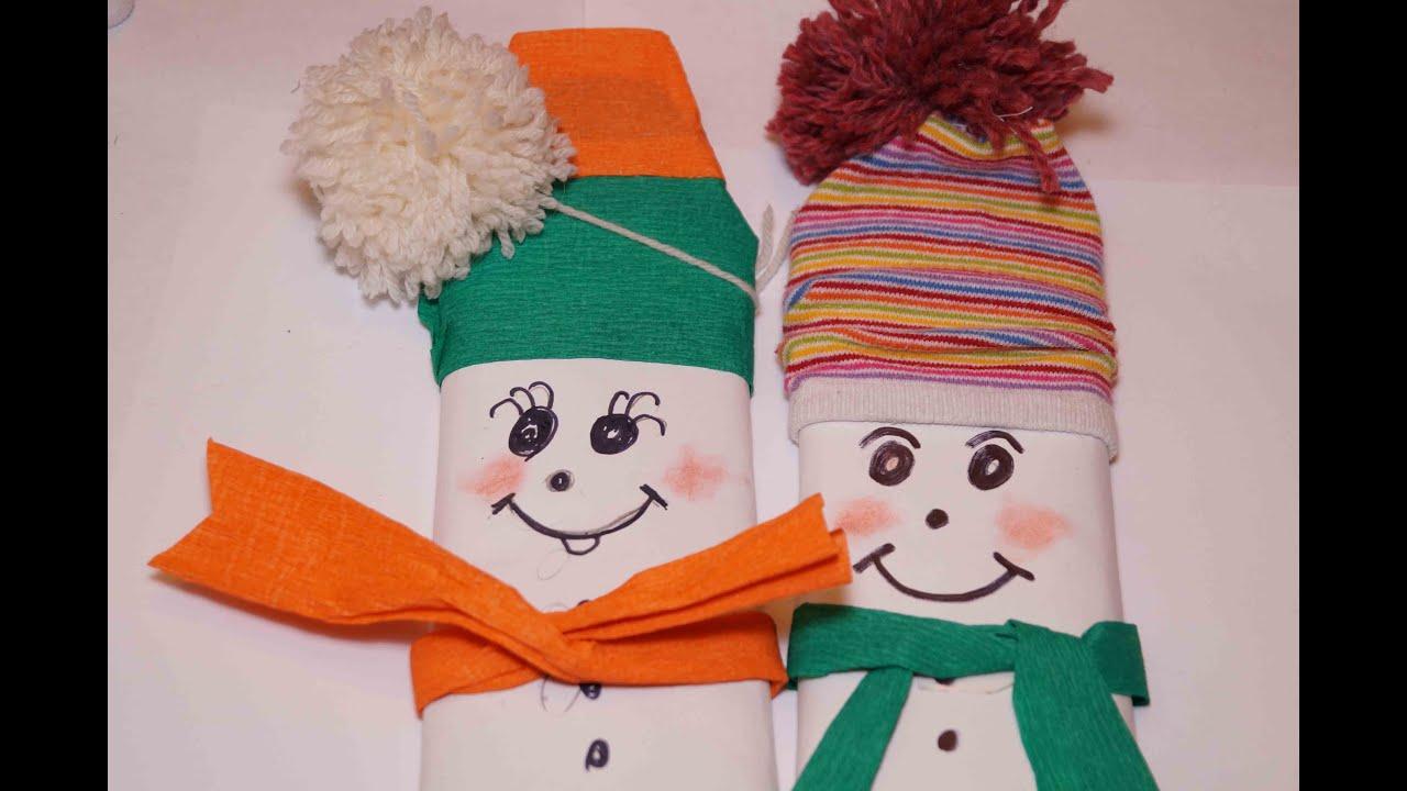 Новогодняя поделка шоколадка-снеговик своими руками