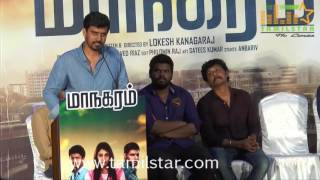 Maanagaram Movie Press Meet