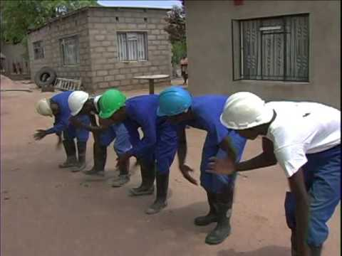 Gumboot Dancers in South Africa