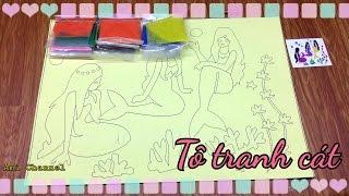 Mermaid sand painting / Đồ chơi trẻ em: Tô tranh cát 3 nàng tiên cá / ami channel