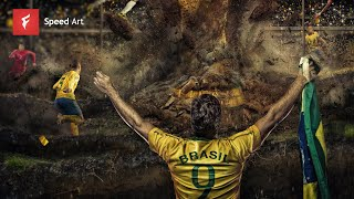 FIFA World Cup Brazil - Adobe Photoshop CC PhotoManipulation - By Flew