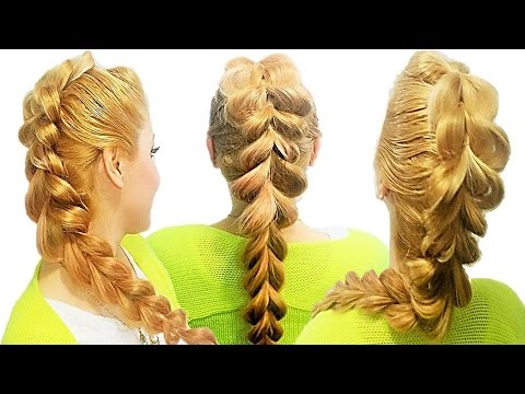 Como Hacer una Trenza invertida de 2 Cabos   2016 Pull-Through braid