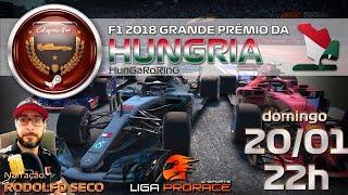 LIGA DE F1 VIRTUAL | F1 2018 PC PRO | GRANDE PREMIO DA HUNGRIA 2019 | F1 AO VIVO