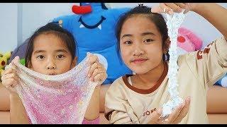 Hồng Anh Và Thùy Giang Thử Làm Slime Xốp, Hạt Nở Orbeez │ MN Toys Family Vlogs