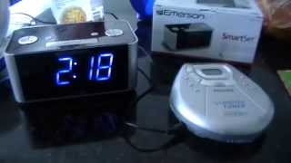 I Got An Emerson CKS1708 SmartSet SureAlarm AM/FM Alarm Clock Radio
