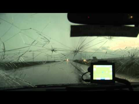 5/26/2008 Hail Storm Destroys Car and a Tornado Video