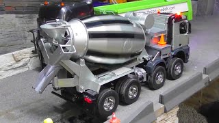 CONSTRUCTION SITE - BEAUTIFUL RC CONCRETE MIXER - RC BETON MIXER !