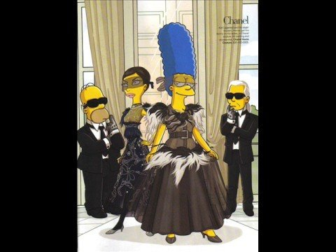 The Simpsons Go to Paris with Linda Evangelista photo