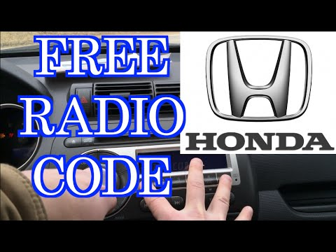 How To Get A Honda Radio Code *For Free* | How To Save ...