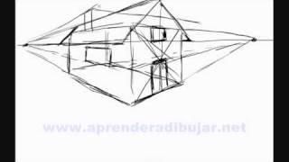 Comment dessiner - Dessin de maison en perspective ...