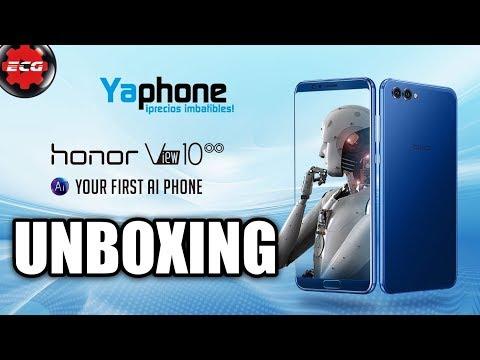 Honor View 10 unboxing y primeras impresiones