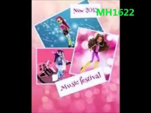 New Monster High Dolls/Music Festival/2013-2014 Official Mattel